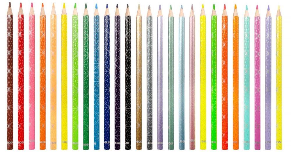 Kolores STYLE trojhranné pastelky, 3 mm / 26 farieb