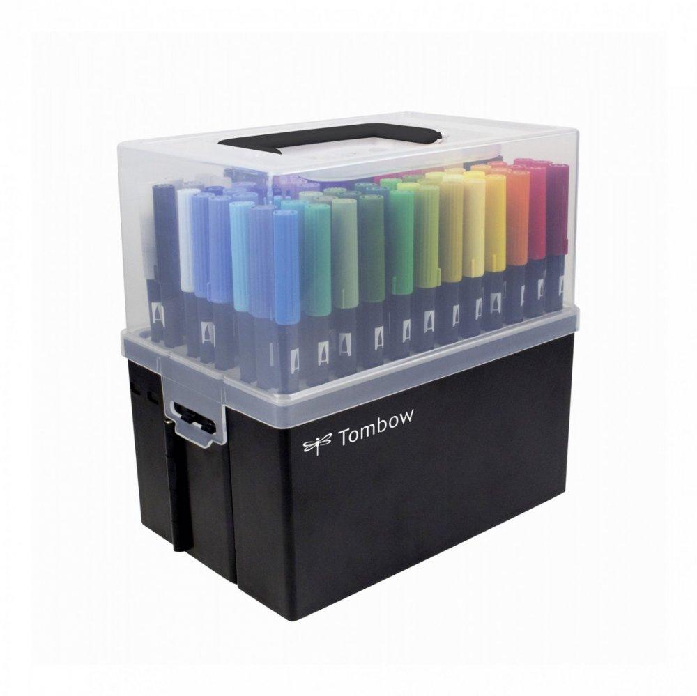 Obojstranná fixka s dvoma hrotmi 108 farieb DUAL BRUSH PEN