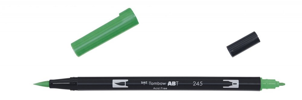 Obojstranná fixka s dvoma hrotmi DUAL BRUSH PEN, sap green