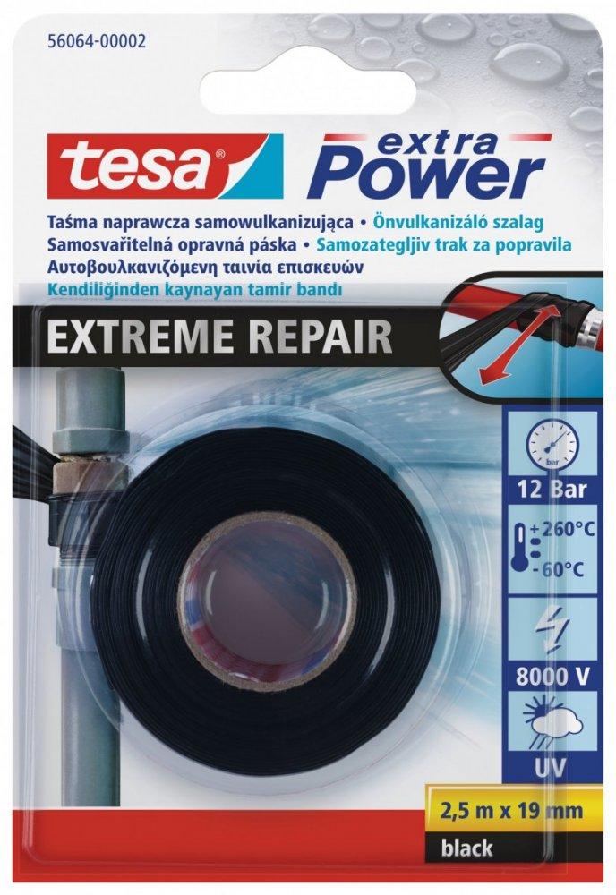 Butilová páska EXTREME REPAIR, samosvařitelná, UV odolná, černá, 2,5m x 19mm