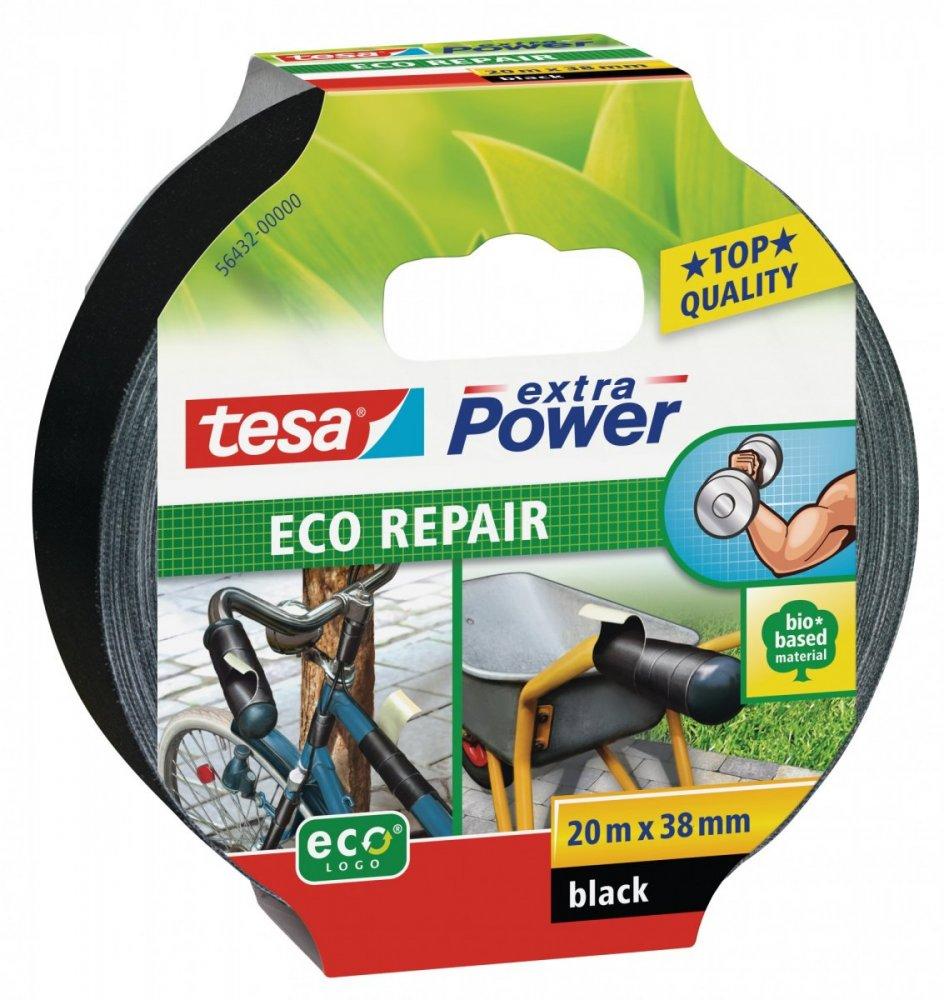 Univerzální opravná páska ECO repair, textilní, černá, 20m x 38mm