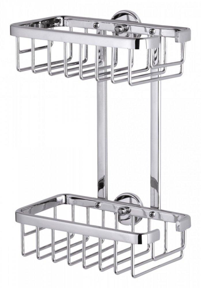 Aluxx Rohový košík dvojposchodový