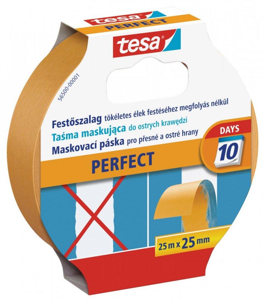 Maskovací páska PERFECT na ostré přechody, speciální papír, béžová, 25m x 25mm