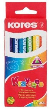Voskové pastelky Krayones - trojhranné, 12 barev