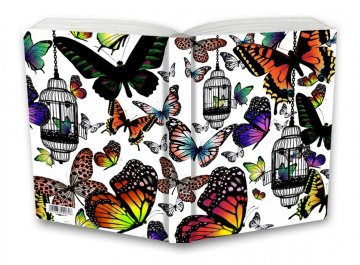 Tečkovaný zápisník, motýli, 100 x 140 mm