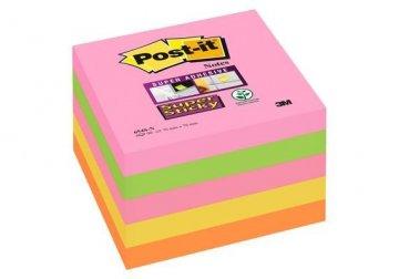 Bloček super silně lepící Post-it 76x76 5 x 90 listů neon