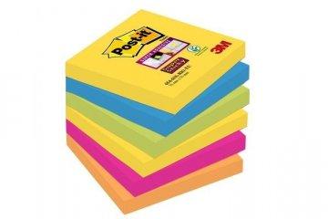 Silně lepicí bloček 654, 76x76, 6 bločků á 90 l, kolekce RIO