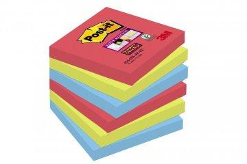 Silno lepiaci bloček 654, 76x76, 6 bločkov á 90 l, kolekcia BORA BORA