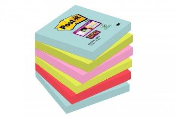 Silno lepiaci bloček 654, 76x76, 6 bločkov á 90 l, kolekcia MIAMI