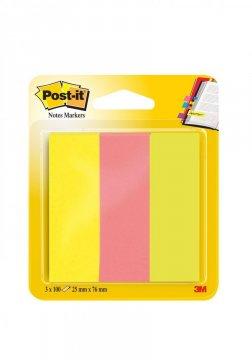 Bloček značkovací Post-it 25x76 3 x 100l
