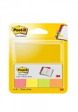 Bloček značkovací Post-it 20x38 4 x 50l neón