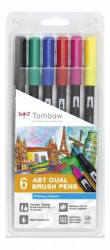 Sada obojstranných fixiek ABT DUAL BRUSH PEN – Primary colours, 6 ks