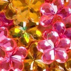 Dekorativní krystalky – květy 100ks