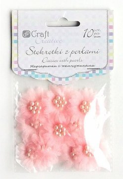 Sedmikrásky s perlami – růžové 10ks