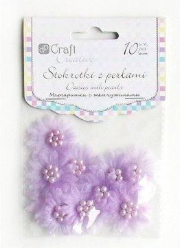 Sedmikrásky s perlami – šeřík 10ks