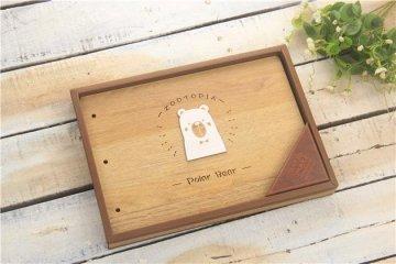 Dřevěné album, 190x270mm, 28 listů, medvídek
