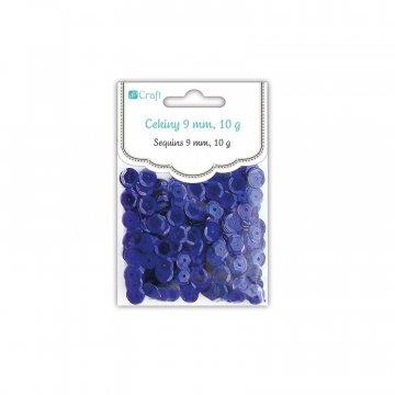 Flitry kulaté 9mm, metalické modré,10g