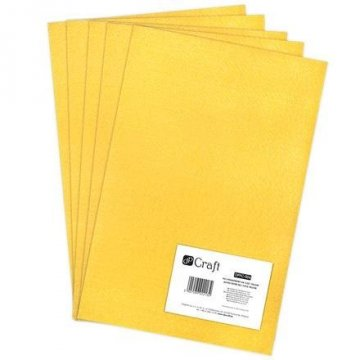Filc polyesterový – žlutý A4