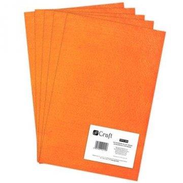 Filc polyesterový – oranžový A4