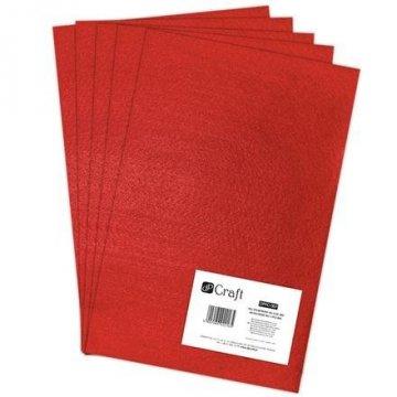 Filc polyesterový – červený A4