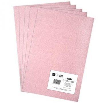 Filc polyesterový – světle růžový A4