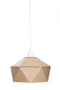 Lampa z lepenky DIY, bílá objímka