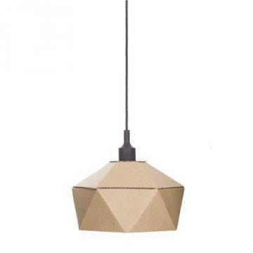 Lampa z lepenky DIY, černá objímka