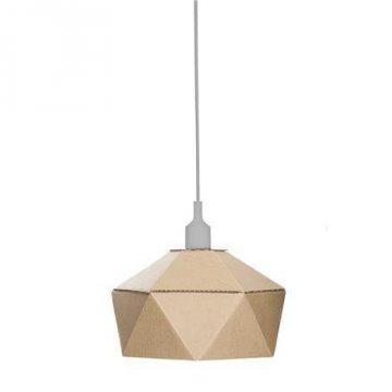 Lampa z lepenky DIY, šedá objímka