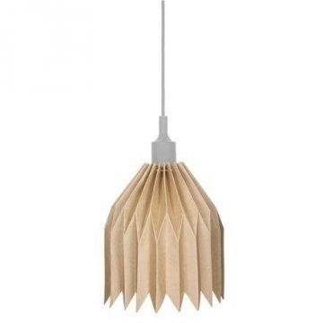 Lampa z kartonu DIY, šedá objímka