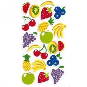 Pěnové samolepky - ovoce, 20 ks
