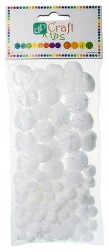Bambule bílé akryl-třpyt 85 ks