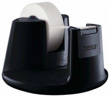 Stolní odvíječ COMPACT, stylový, černý lak, s bankovní páskou 33m x 19mm