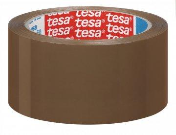 Balicí páska STRONG PP, akrylát, nehlučné odvíjení, hnědá, 66m x 50mm
