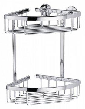 Aluxx Rohový košík, dvojposchodový