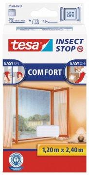 Síť proti hmyzu COMFORT, na francouzské okno, bílá, 1,2m x 2,4m