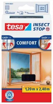Síť proti hmyzu COMFORT, na francouzské okno, antracitová, 1,2m x 2,4m
