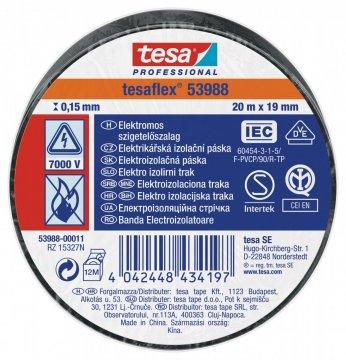 Elektroizolační PVC páska, splňuje normu IEC, černá, 20m x 19 mm