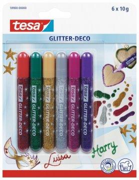 Dekorační třpitivé glitter pero, různé barvy, 6x 10g