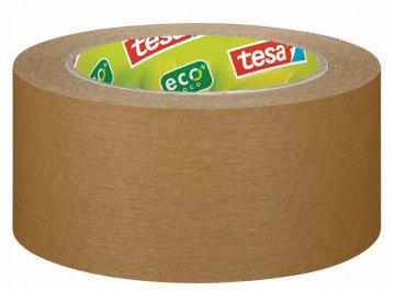 Balicí páska papírová ecoLogo®, odolná, světle hnědá, 50m x 50mm