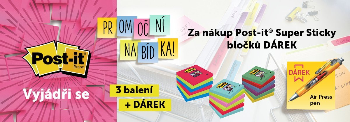 Banner - Post-it akce 3+1